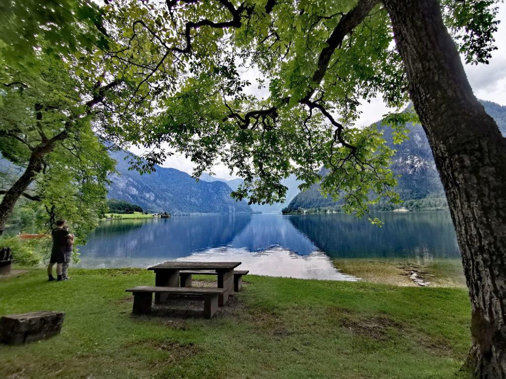Am Hallstätter See baden - das ist der Badeplatz Schliessenzweck