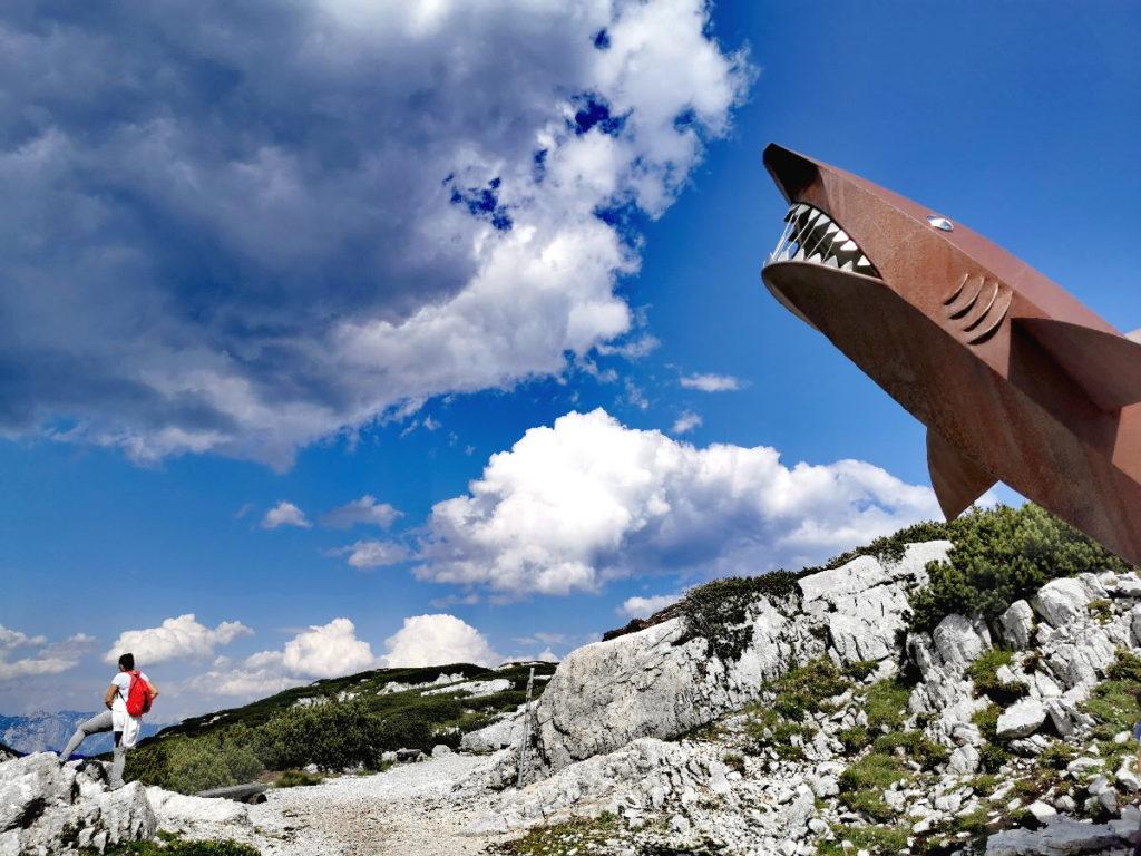 Auf der anderen Seite der Five Fingers Plattform: Der Dachstein Hai