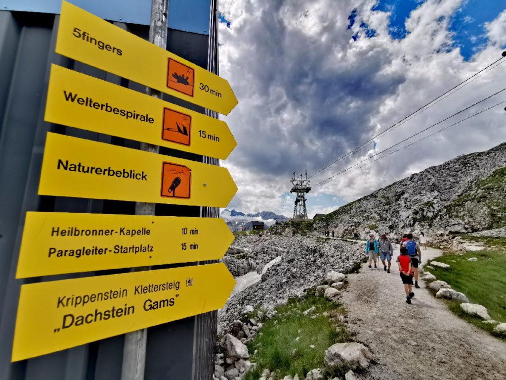 Am Krippenstein wandern - leichte Wanderungen ab der Bergstation