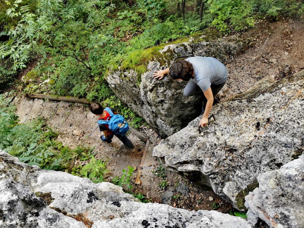 Vom Eulenloch durch die Felsen zurück ins Echerntal