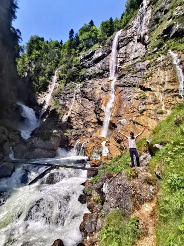 Der eindrucksvolle Waldbachstrub Wasserfall im Echerntal